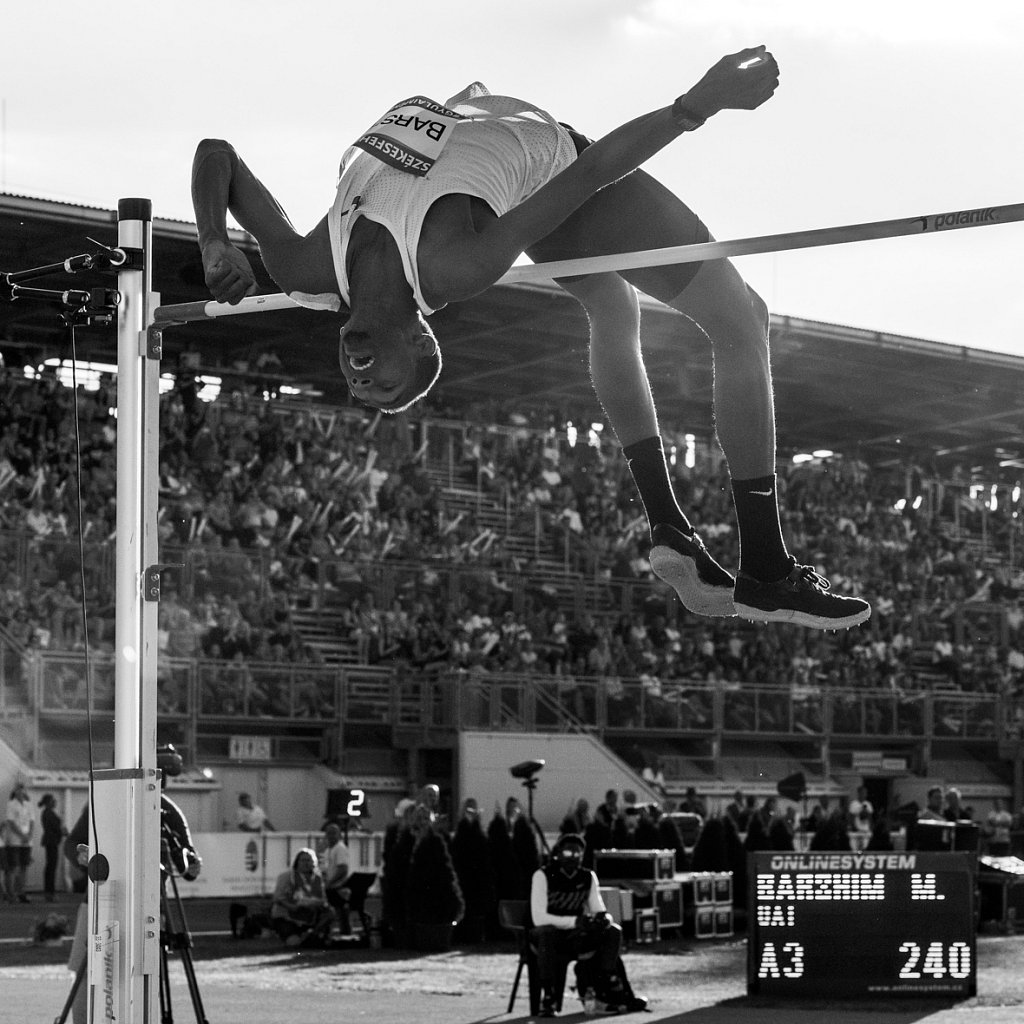 Barshim's 3rd attempt on 240cm at Gyulai Memorial in Hungary