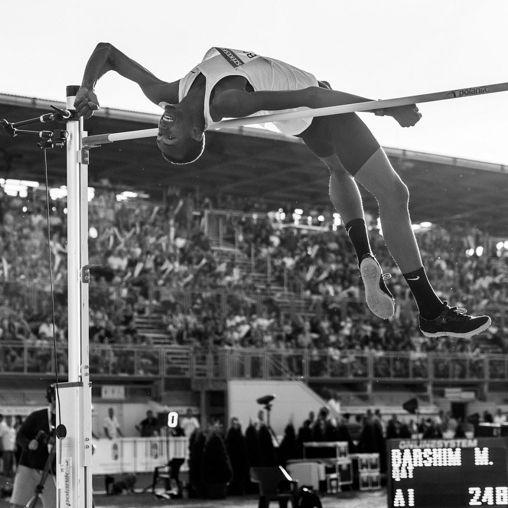 Barshim's first world record attempt on 246cm