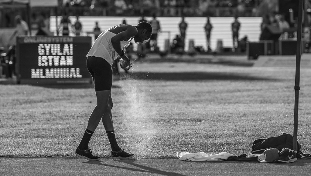 Barshim is refreshing after his first world record attemp.