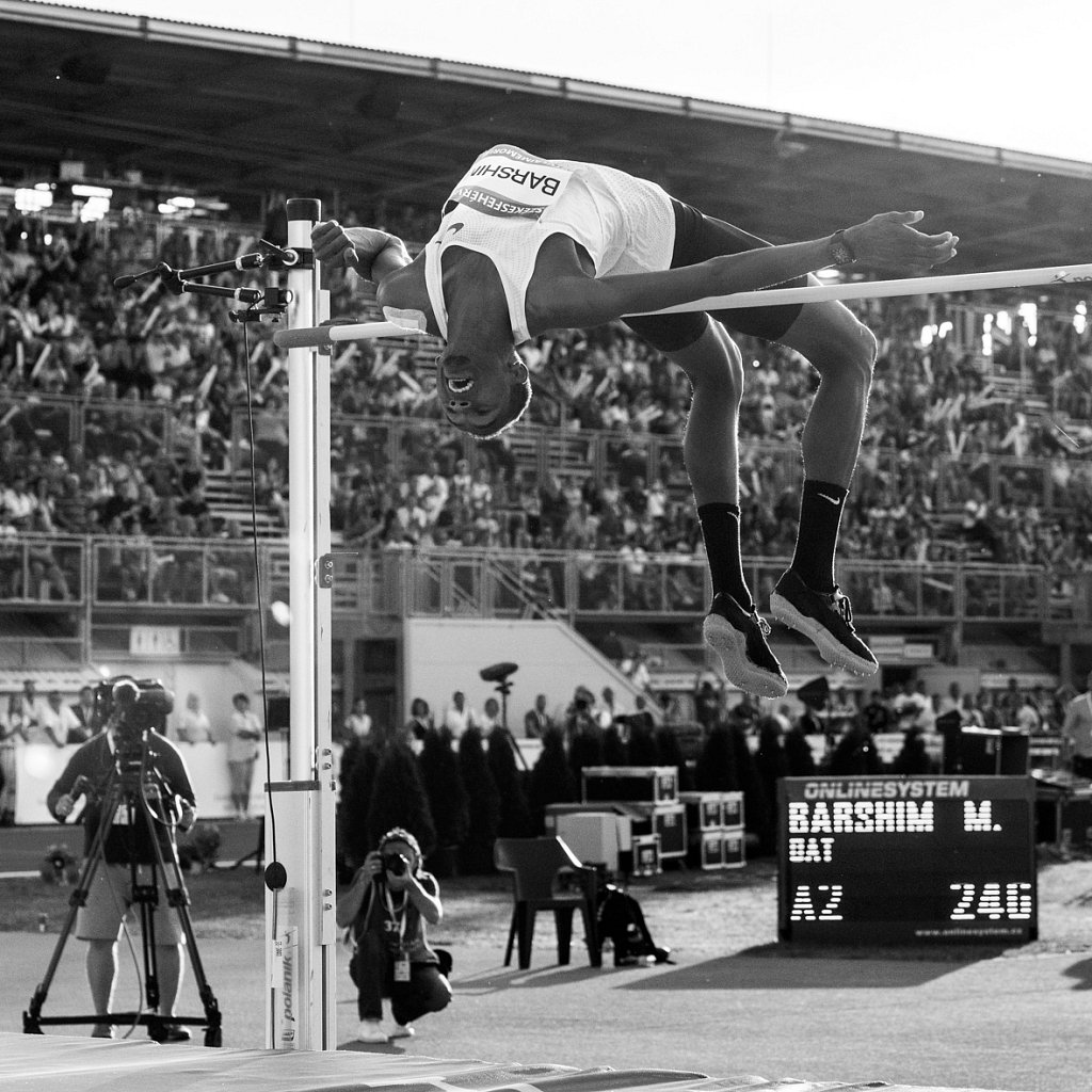 Mutaz Barshim's second attemp on the height of 246cm.